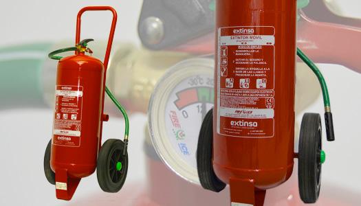 Extintores de polvo ABC moviles en La Rioja, País Vasco y Navarra